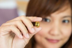 Woman Show pill Foe healthy