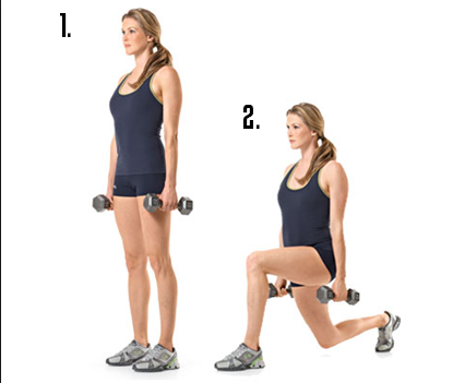 lunge with weights